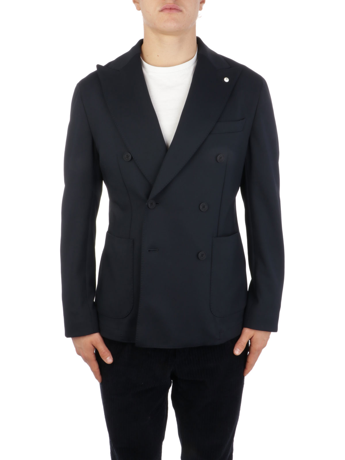 Picture of LBM 1911 | Men's Stretch Double-Breasted Blazer
