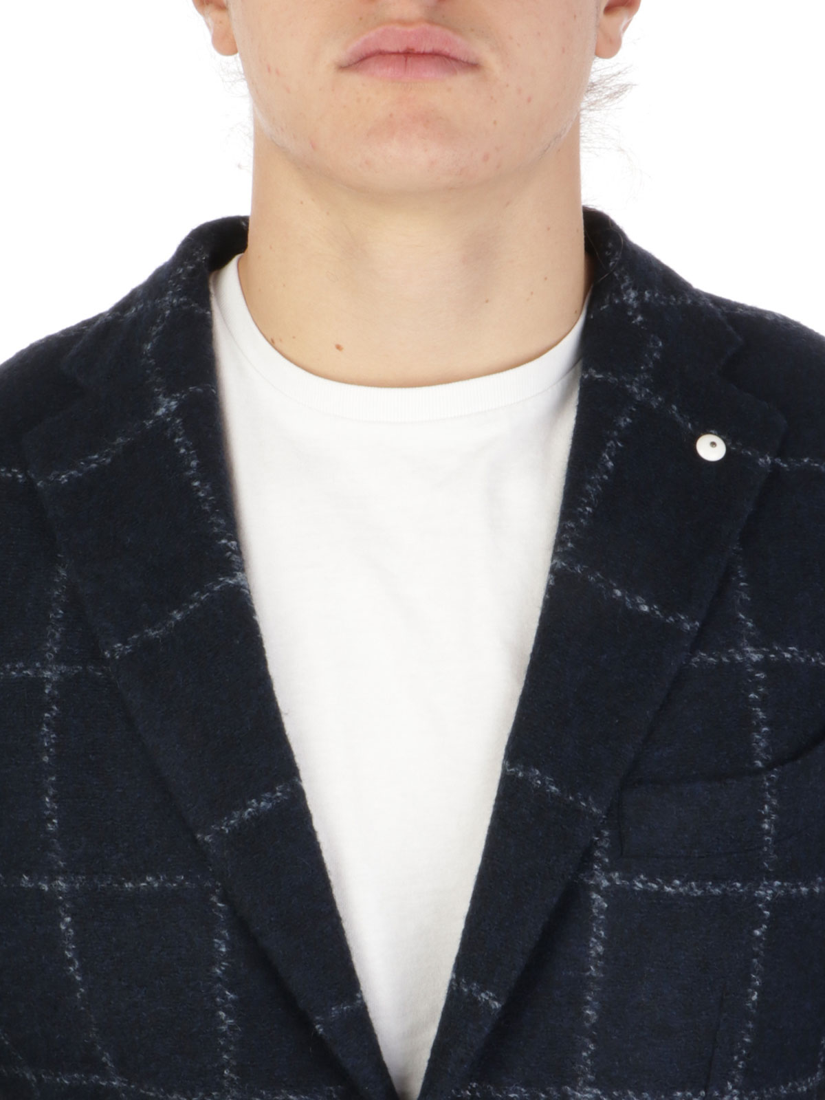 Picture of LBM 1911 | Men's Checked Wool Blazer