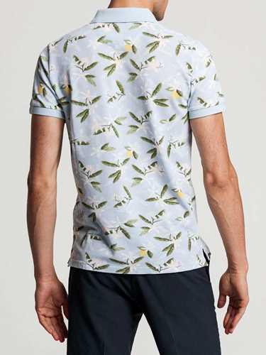 Picture of GANT   Men's Lemon Flower Piqué Polo Shirt