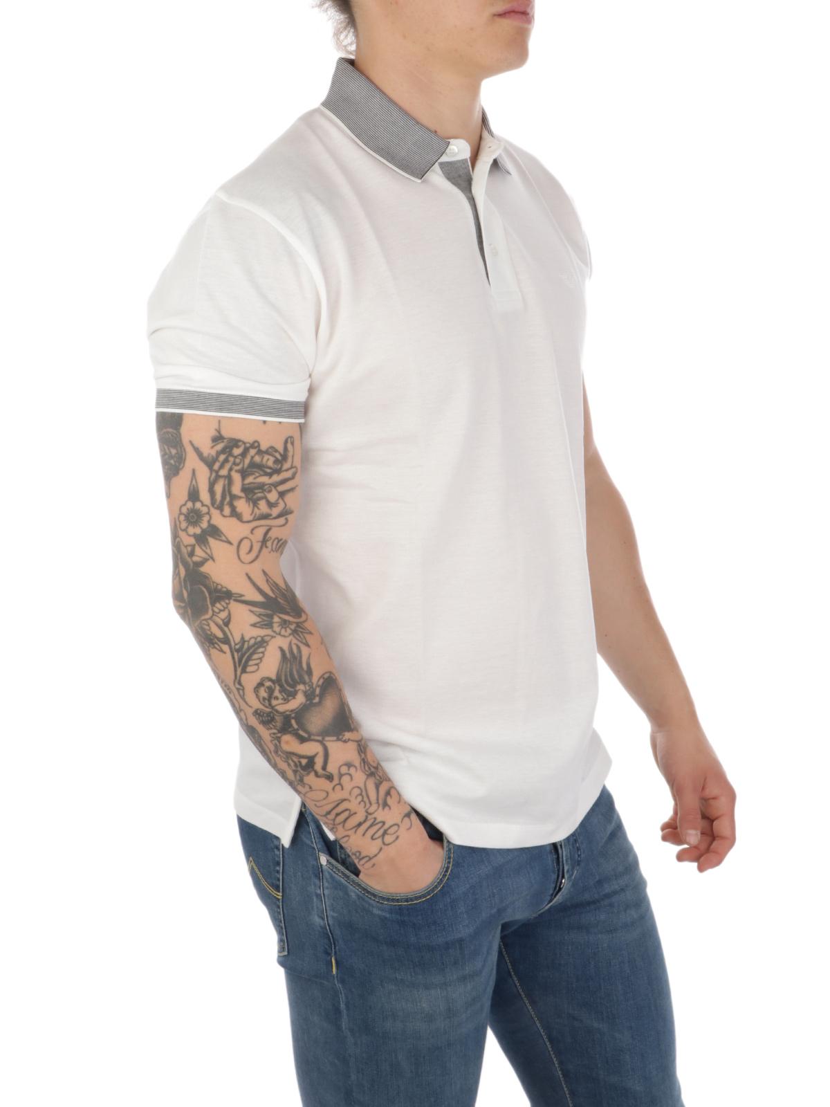 Picture of EMPORIO ARMANI | Men's Contrasting Collar Polo