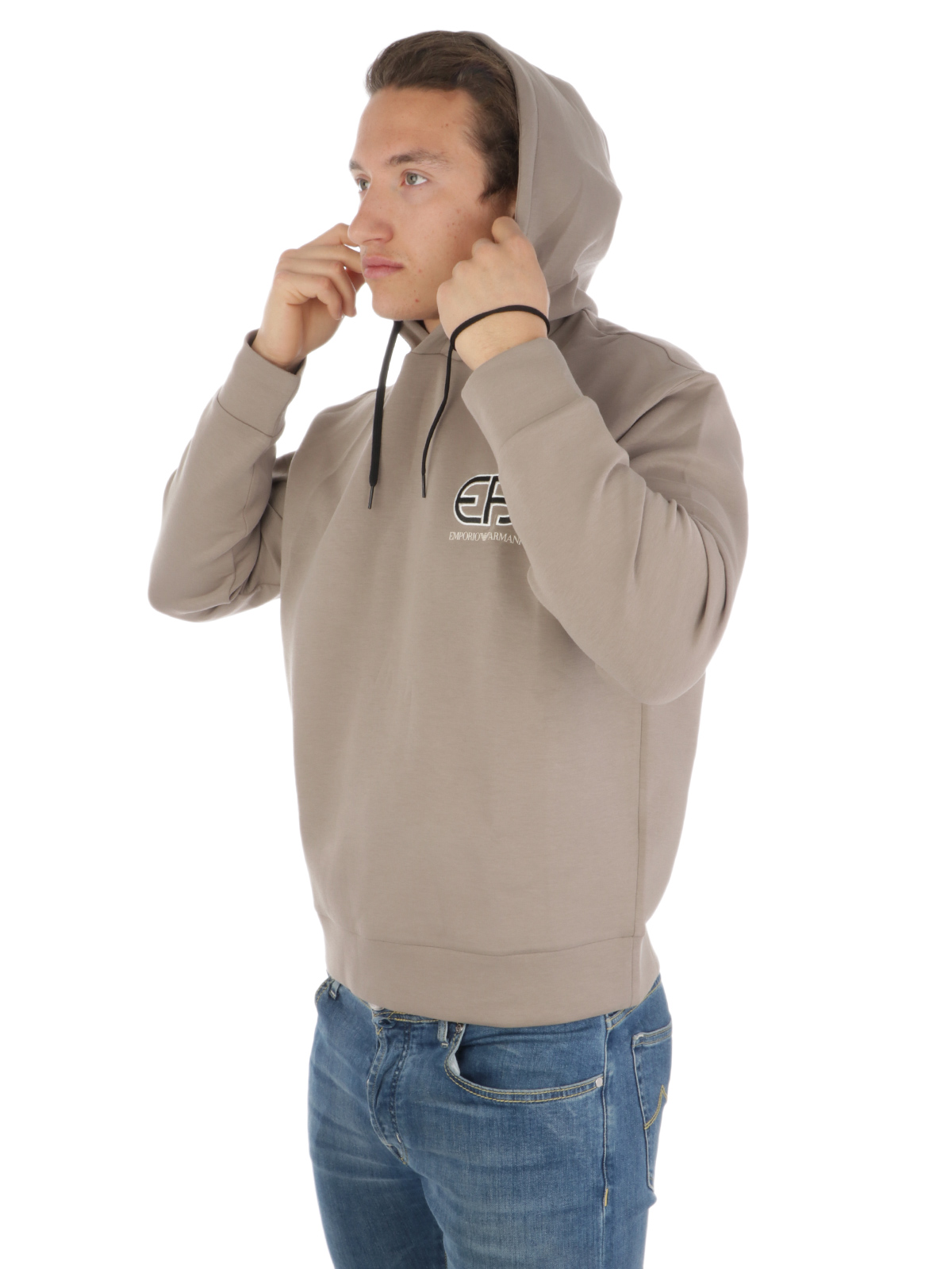 Picture of EMPORIO ARMANI | Men's Sweatshirt with Logo Embroidery