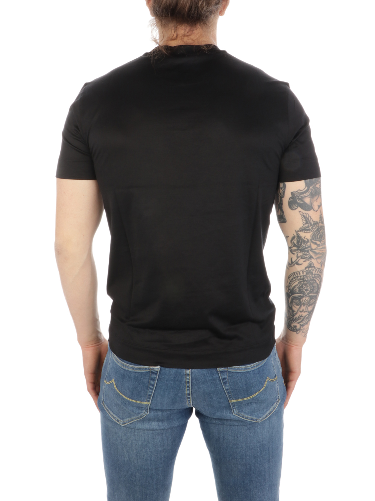 Picture of EMPORIO ARMANI | Men's T-Shirt with Logo Embroidery