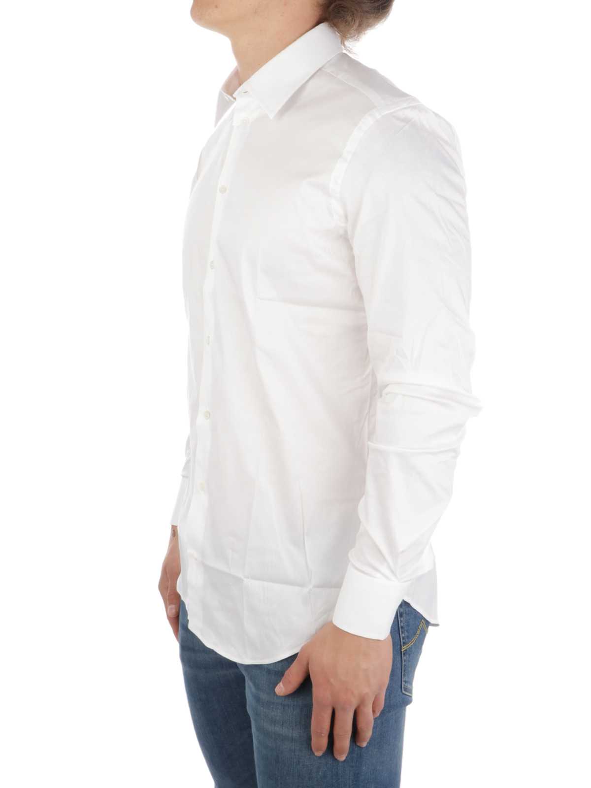 Picture of EMPORIO ARMANI | Men's Cotton Slim Fit Shirt