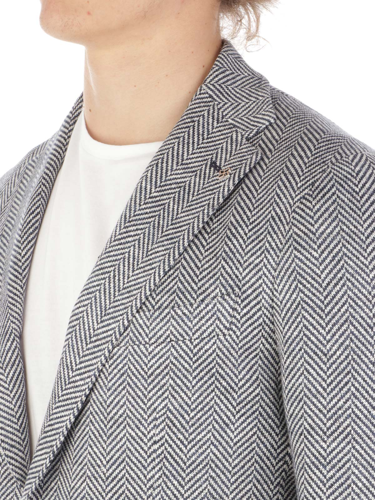 Picture of TAGLIATORE | Men's Herringbone Linen Blazer