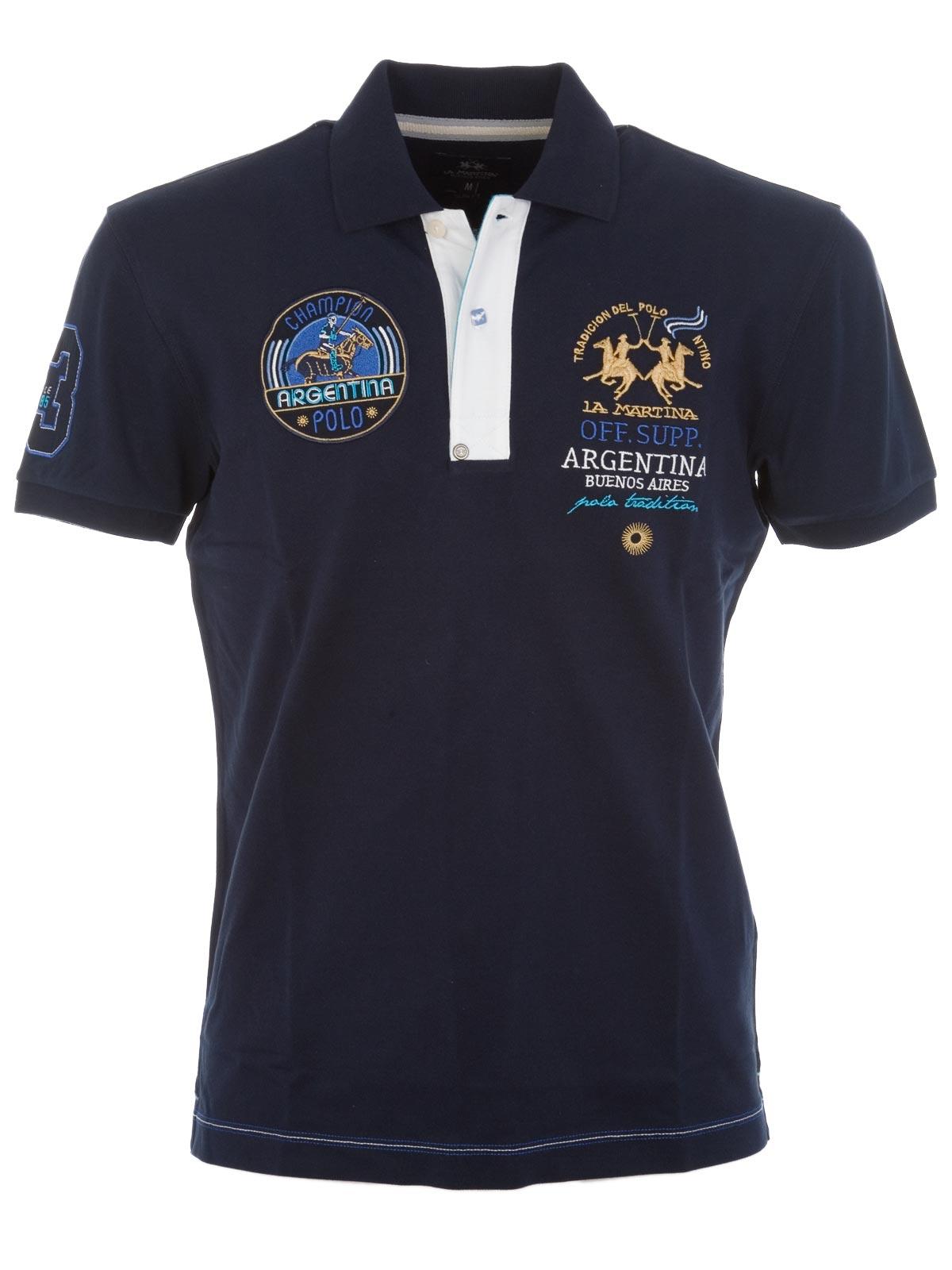 Picture of LA MARTINA | Stretch Cotton Polo Shirt