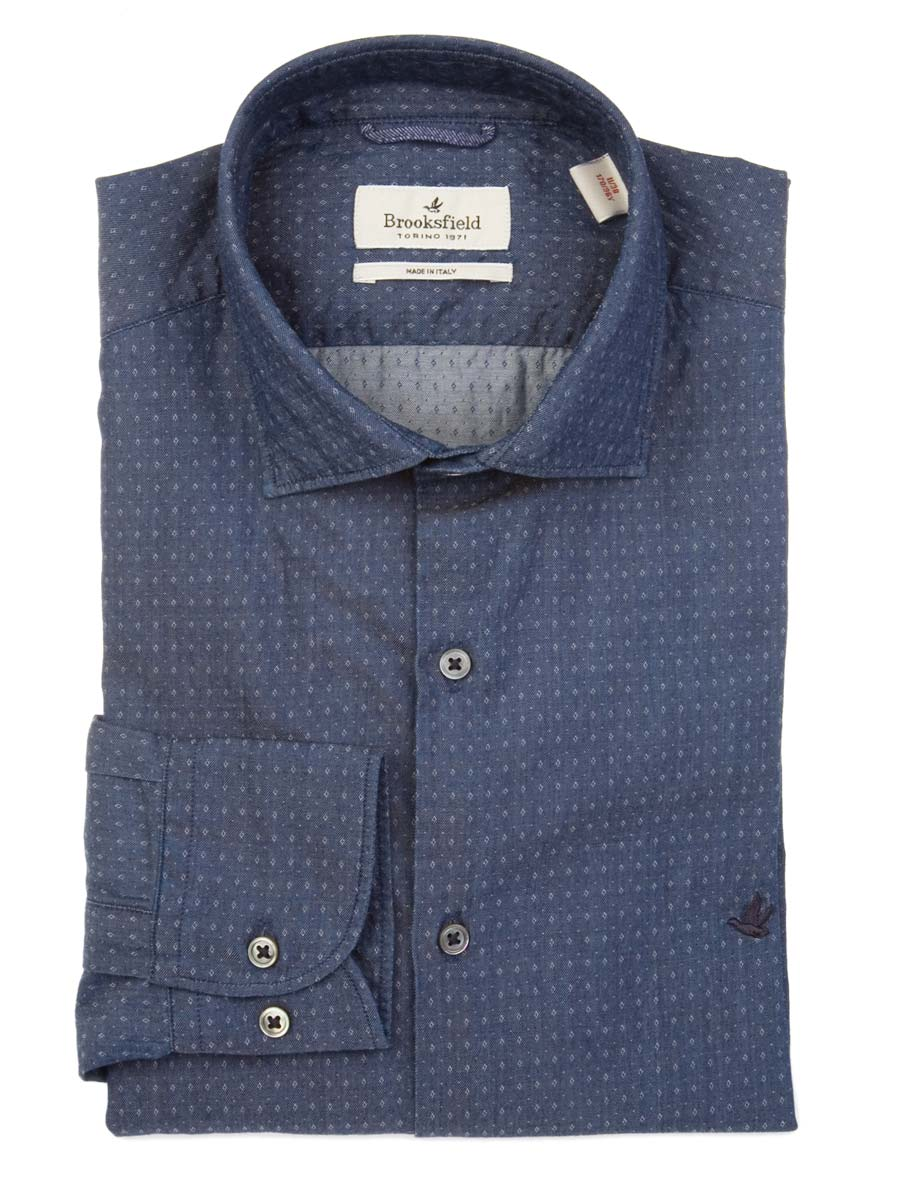 Picture of BROOKSFIELD | Slim Fit Pin Shirt