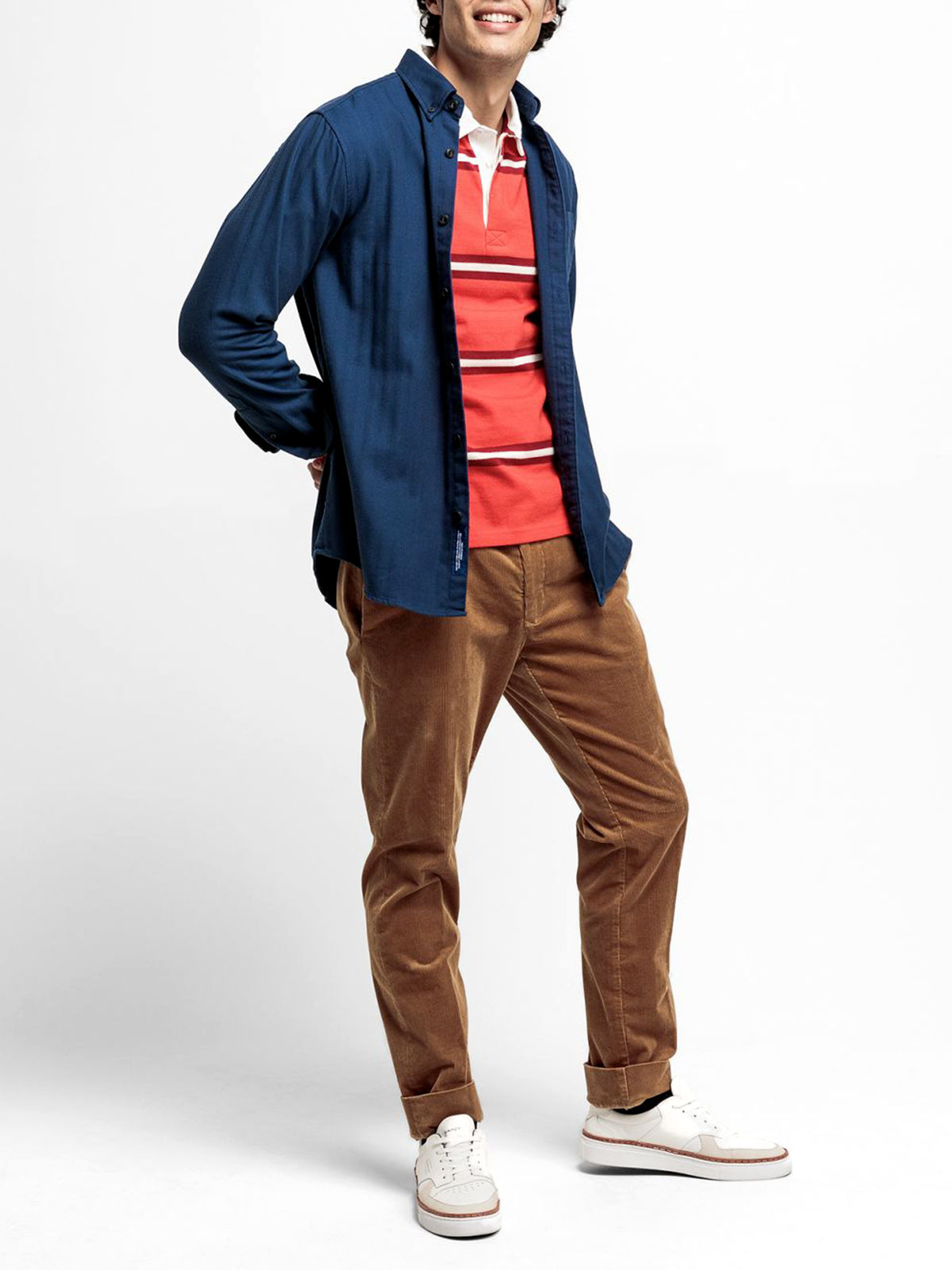 Picture of GANT   Camicie D2. TP HERRINGBONE SOLID REG BD