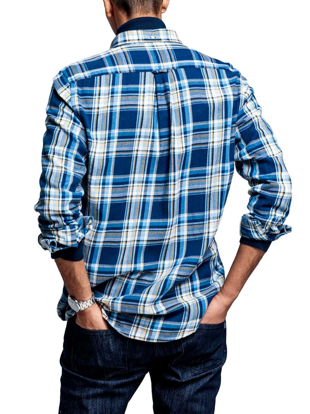 Picture of GANT | Camicie D2. WB FLANNEL INDIGO REG BD
